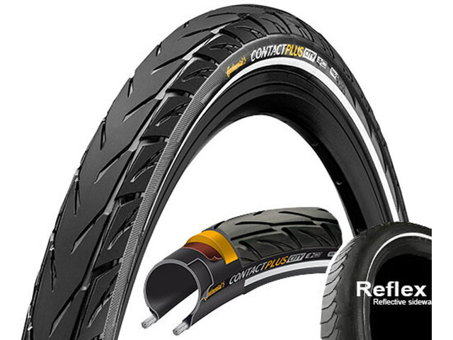 "Continental Contact Plus City E-50 Drahtreifen 26"" Reflex"